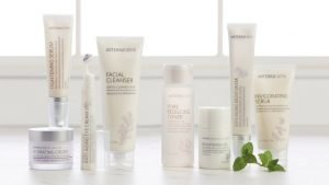 Essential skincare products infused with essential oils.