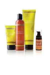 Hair care products infused with essential oils.