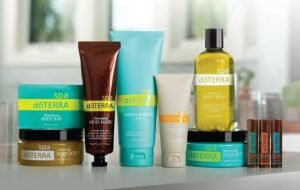 Body wash and spa products infused with essential oils.