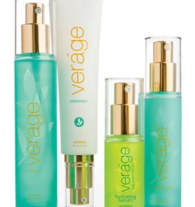 Anti-aging skincare products infused with essential oils.