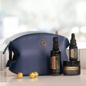 Collagen boosting and wrinkle reducing skincare products infused with essential oils.
